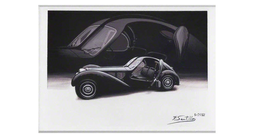Gouache paint BUGATTI ATLANTIC
