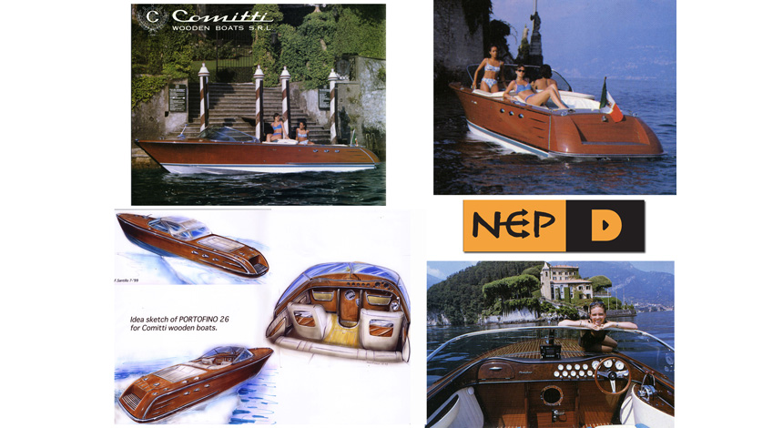 Rendering and photo of production wooden boat.