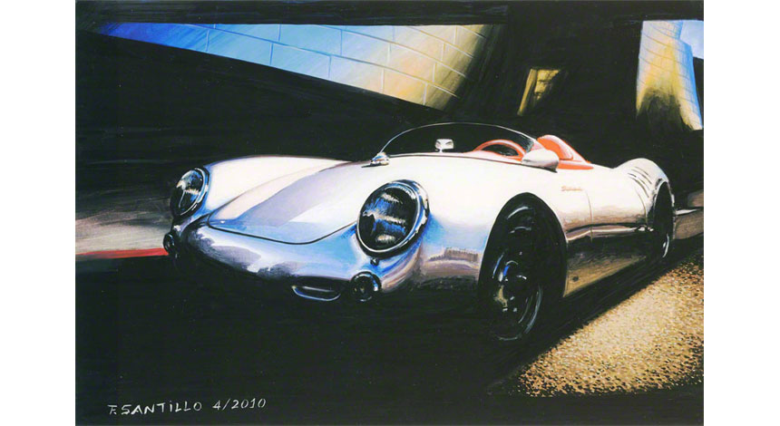 Rendering entire with COPIC PORSCHE 550 Spyder