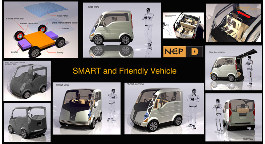 Sample Mini Eco Car in 3D.