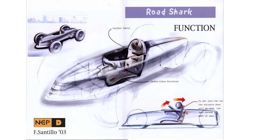 Sketch of light sport car F1 image.