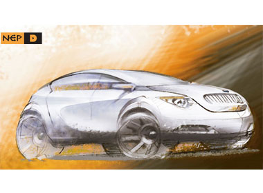 BMW X1 coupe sketch